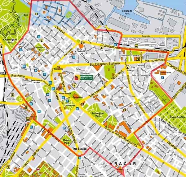 Mapa Centra Beograda Superjoden